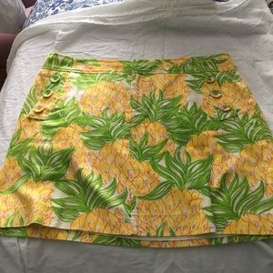 Dresses & Skirts - Lilly Pulitzer Yellow and Green Pineapple Skirt